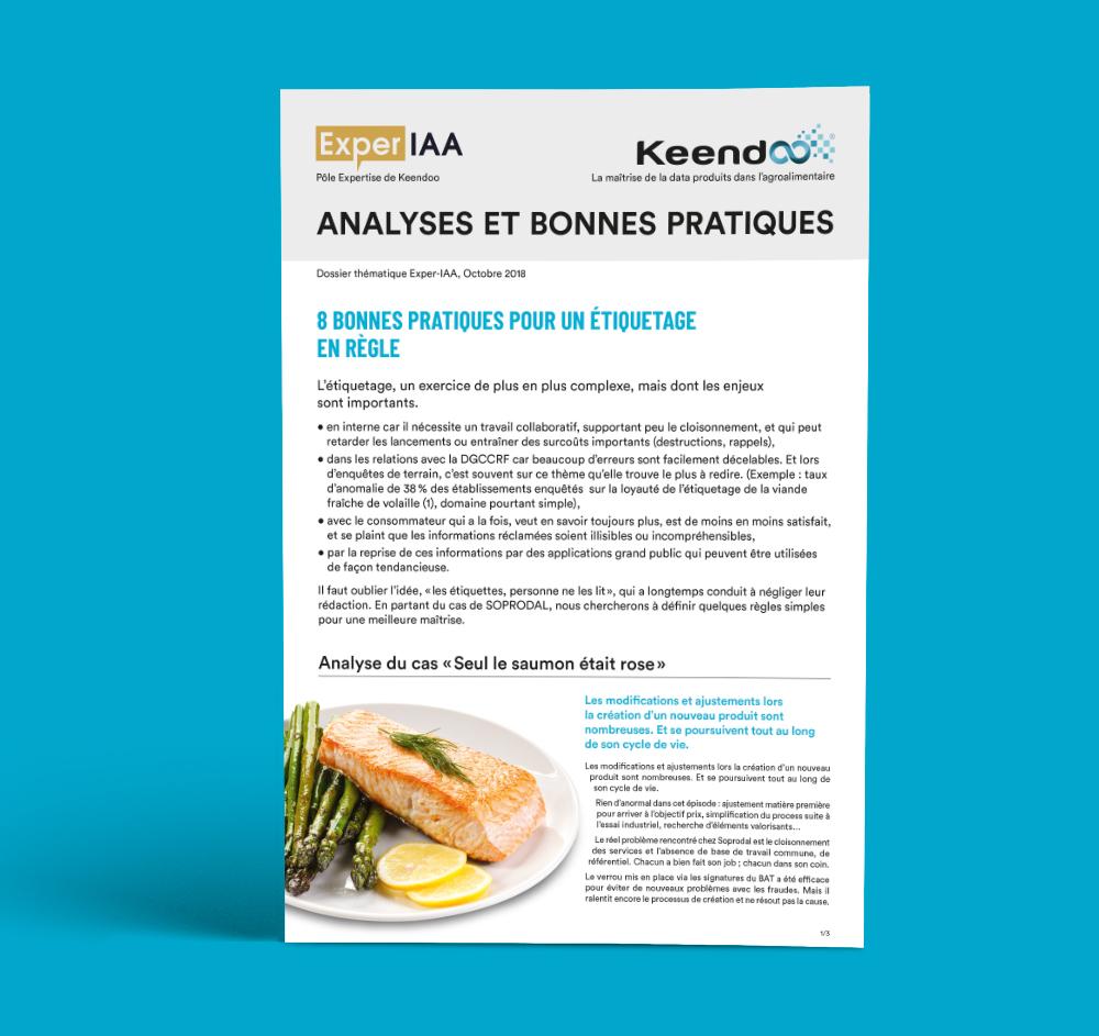 Dossier Analyse et Bonnes pratiques Keendoo Étiquetage produits dans les iAA