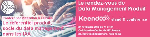 Inscription au RDV du Data Management organisé par GS1 le 27 novembre 2018