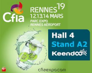 Venez rencontrer Keendoo Hall 4 Stand A2 au CFIA 2019