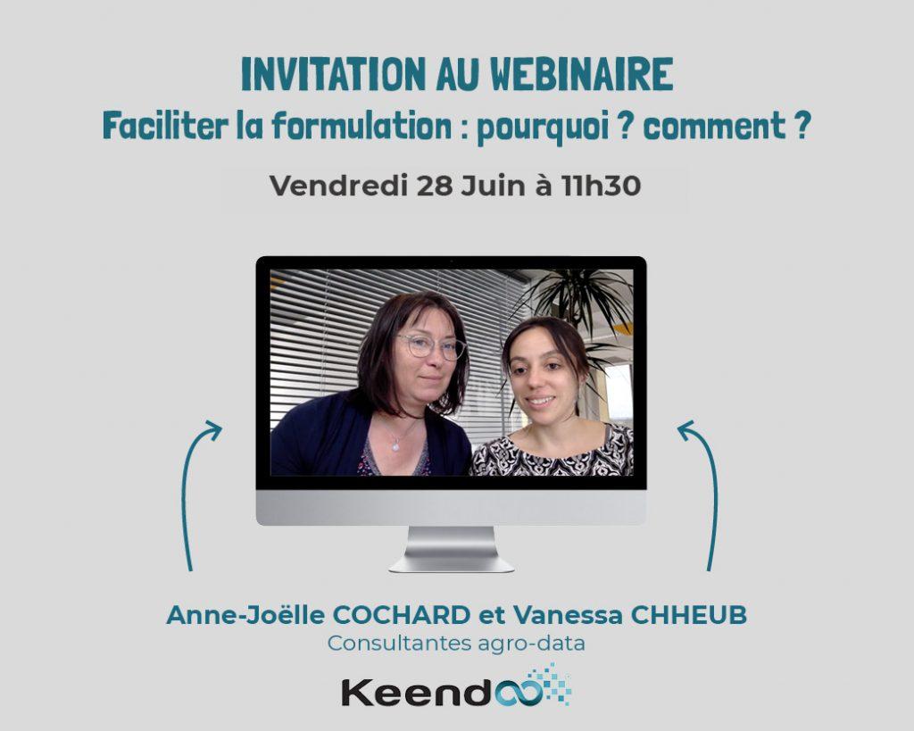 Invitation au webinaire Formulation agroalimentaire Keendoo du 28 juin 2019