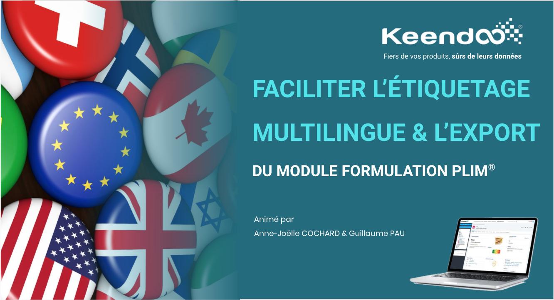 Webinaire Faciliter l'étiquetage multilingue et l'export avec Keendoo