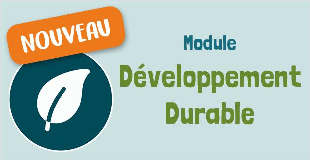 Nouveau module Développement Durable Keendoo