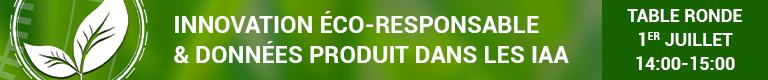 Innovation éco-responsable et données produits dans les IAA, table ronde Keendoo, O2M Conseil et NumAlim le 1er juillet 2021, 14:00-15:00 en visio