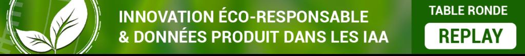 Replay de la table ronde Keendoo-RIA : Innovation éco-responsable et données produits dans les IAA, avec O2M Conseil et NumAlim du 1er juillet 2021