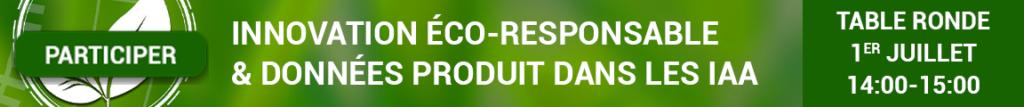 Participez à la table ronde Keendoo-RIA : Innovation éco-responsable et données produits dans les IAA, avec O2M Conseil et NumAlim le 1er juillet 2021, 14:00-15:00 en visio