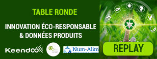 Replay table ronde Innovation éco-responsable et données produits dans les IAA avec Keendoo, O2M Conseil et NumAlim, du 1er juillet 2021.